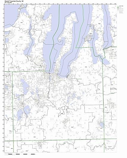Amazon.com: Grand Traverse County, Michigan MI ZIP Code Map Not ...