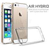 CRUST Air Hybrid Ultra Slim Shock Absorption Bumper Case for Apple iPhone 5S / iPhone SE (Crystal Clear)
