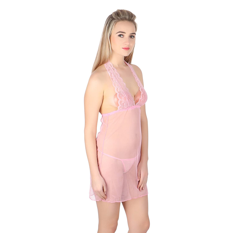 c1df628bae8 Jara Women Honeymoon Nightwear Babydoll Night Dress Obsessive Sexy  Babydoll  Amazon.in  Clothing   Accessories