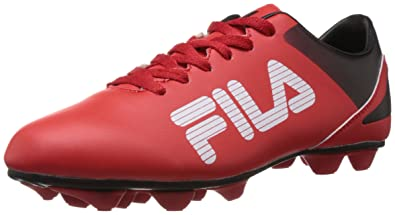 2ecffcd5e836 Made In Italy  Fila Men s Soccer Red and Black Football Boots -11 UK India  (45 EU ...