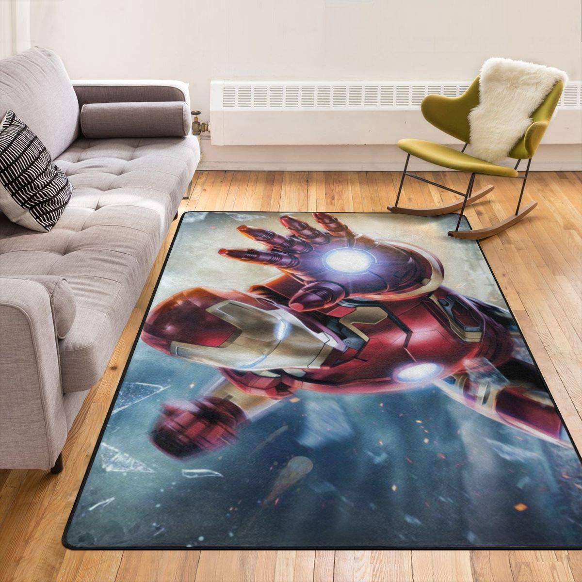 屋内 玄関マット 中敷カーペット 用 Iron Man 4 アイアンマン 洗える カーペット 室内 マルチマット クレホールマット 泥落としマット ドアマット