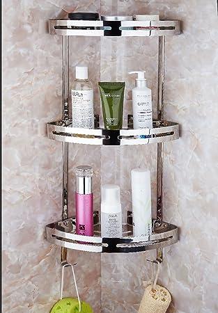 teerfu badezimmer eckregal 304 edelstahl wandhalterung dusche aufbewahrung eckregal kche sticky regalen edelstahl silber - Eckregal Dusche Glas