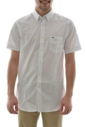 Courtes Blanc Chemise Manches Ch0221 38 Lacoste gHES6WO