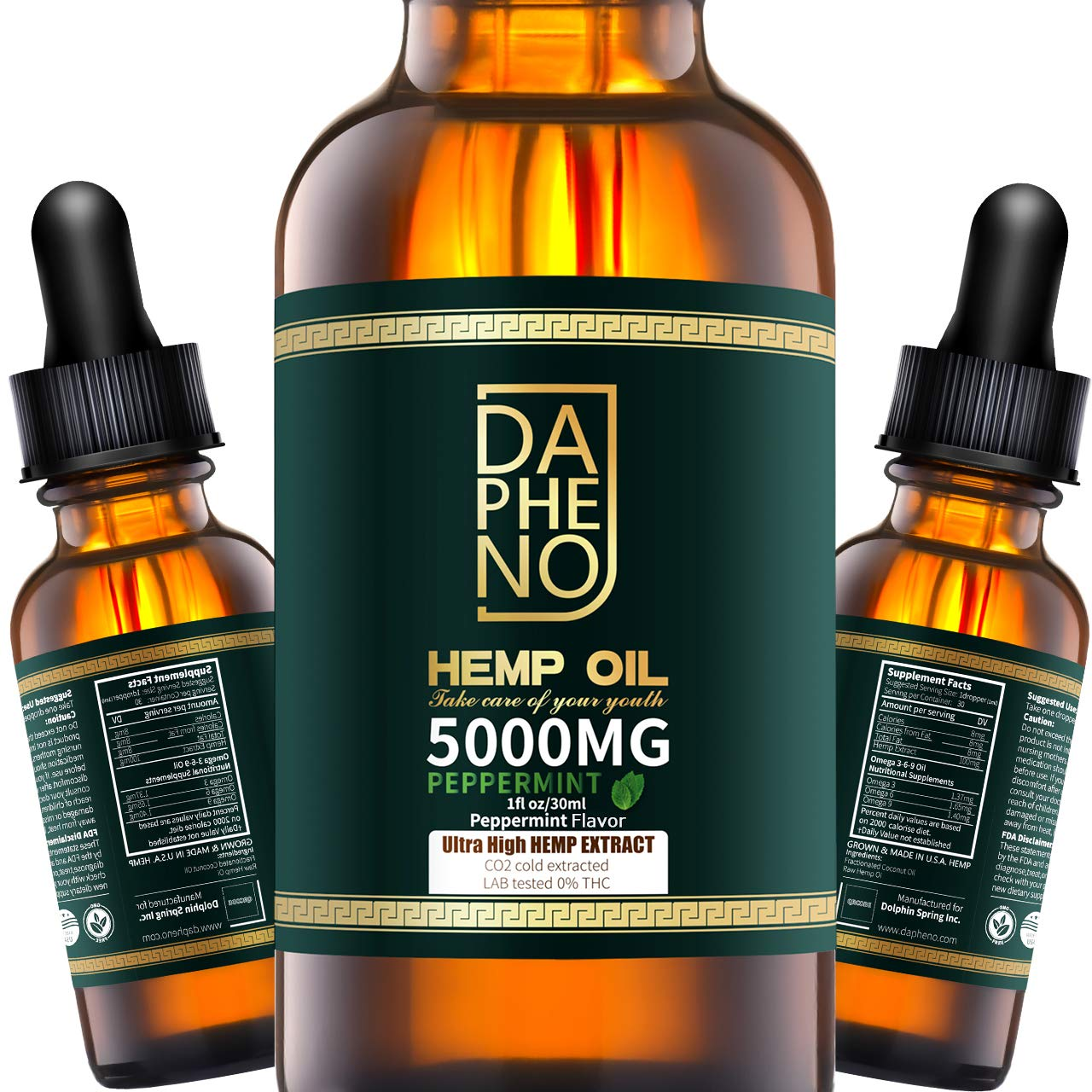 (2 Pack) Hemp Oil 10000mg Natural Hemp Seed Oil Extract for Anxiety