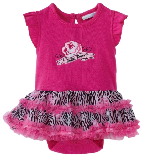 Vitamins Baby Baby Girls' Wild Child Zebra Print Creeper Set