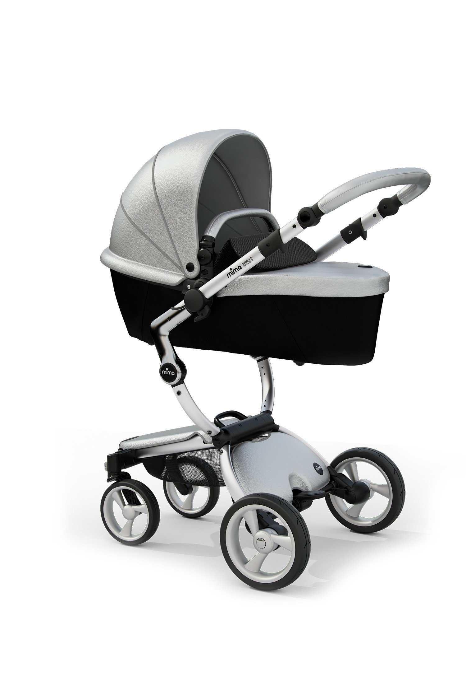 Mima Xari Stroller Authorized Seller ( Aluminum Chassis, Argento seat, Black Starter Pack by Mima (Image #2)