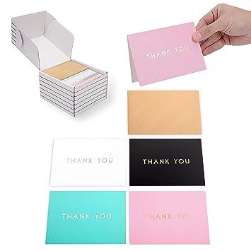 Amazon.com: Outshine - 100 tarjetas de agradecimiento en ...