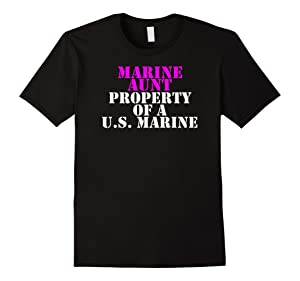 Men's Marine Aunt - Property of a U.S. Marine Small Black