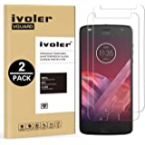[Lot de 2] Motorola Moto Z2 Play Protection écran, iVoler Film Protection d'écran en Verre Trempé Glass Screen Protector Vitre Tempered pour Motorola Moto Z2 Play - Dureté 9H, Ultra-mince 0.20 mm, 2.5D Bords Arrondis- Anti-rayure, Anti-traces de Doigts,Haute-réponse, Haute transparence- Garantie de Remplacement de 18 Mois