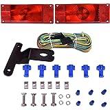 CZC AUTO 12V Low Profile Rectangular Trailer Light Kit Tail Stop Turn Running Lights for Trailer Truck RV