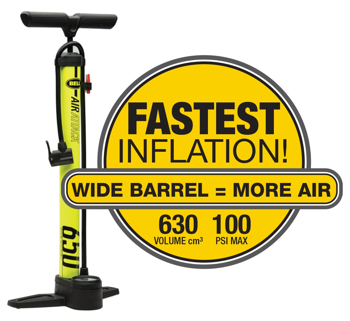 Bell Air Attack 650 High Volume Bicycle Pump by Bell (Image #3)
