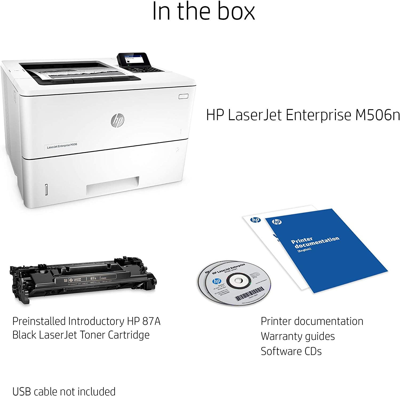 Renewed HP Laserjet Enterprise M506n Laser Printer with Built-in Ethernet F2A68A