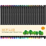 Bullet Journal 24 Pieces Colored Pens, 0.4mm Fineliner Drawing Journal Pens, Porous Fine Point Markers, Perfect for Coloring Book & Calendar Note Coloring Art Projects or Bullet Journal Supplies