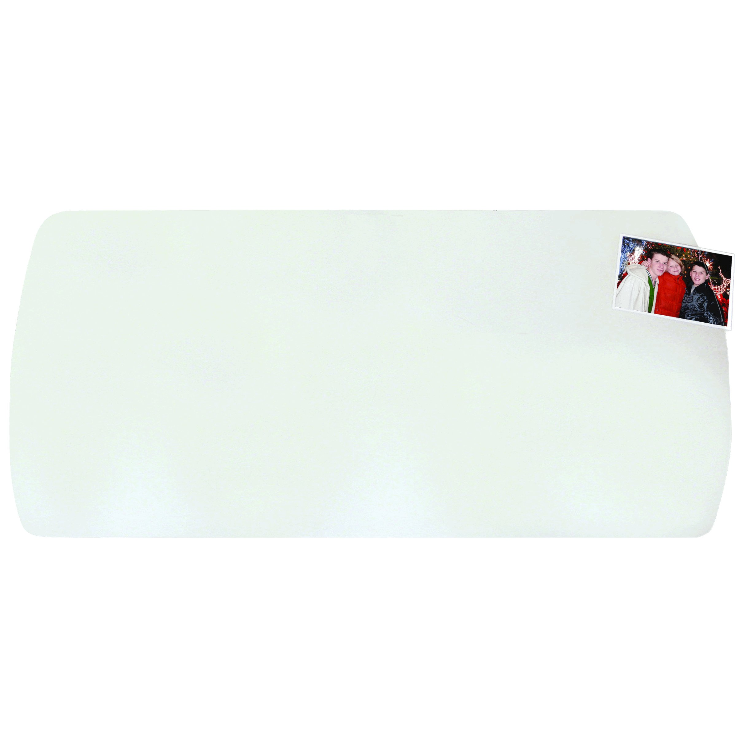 Artistic 60-7-5M 14'' x 30'' Krystal View Curved Desk Pad for Workstations with Exclusive Microban Antimicrobial Protection, Clear