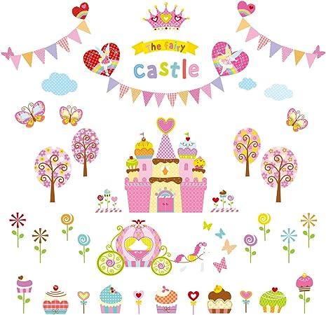 Letti A Castello In Inglese.Decowall Dw 1207 Il Castello Dolce Adesivi Da Parete Decorazioni