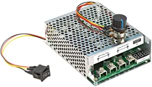 UCTRONICS DC Motor Speed Controller, DC 10-55V/60A, Stepless Motor Controller with Adjustable Potentiometer, Forward-Brake-Reverse Switch and LED Display