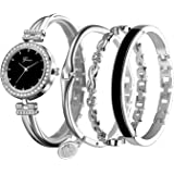 JUMJEE Bracelet Watch for Women 4 in 1 Set Bangel Watch Jewelry with Nice Gift Box