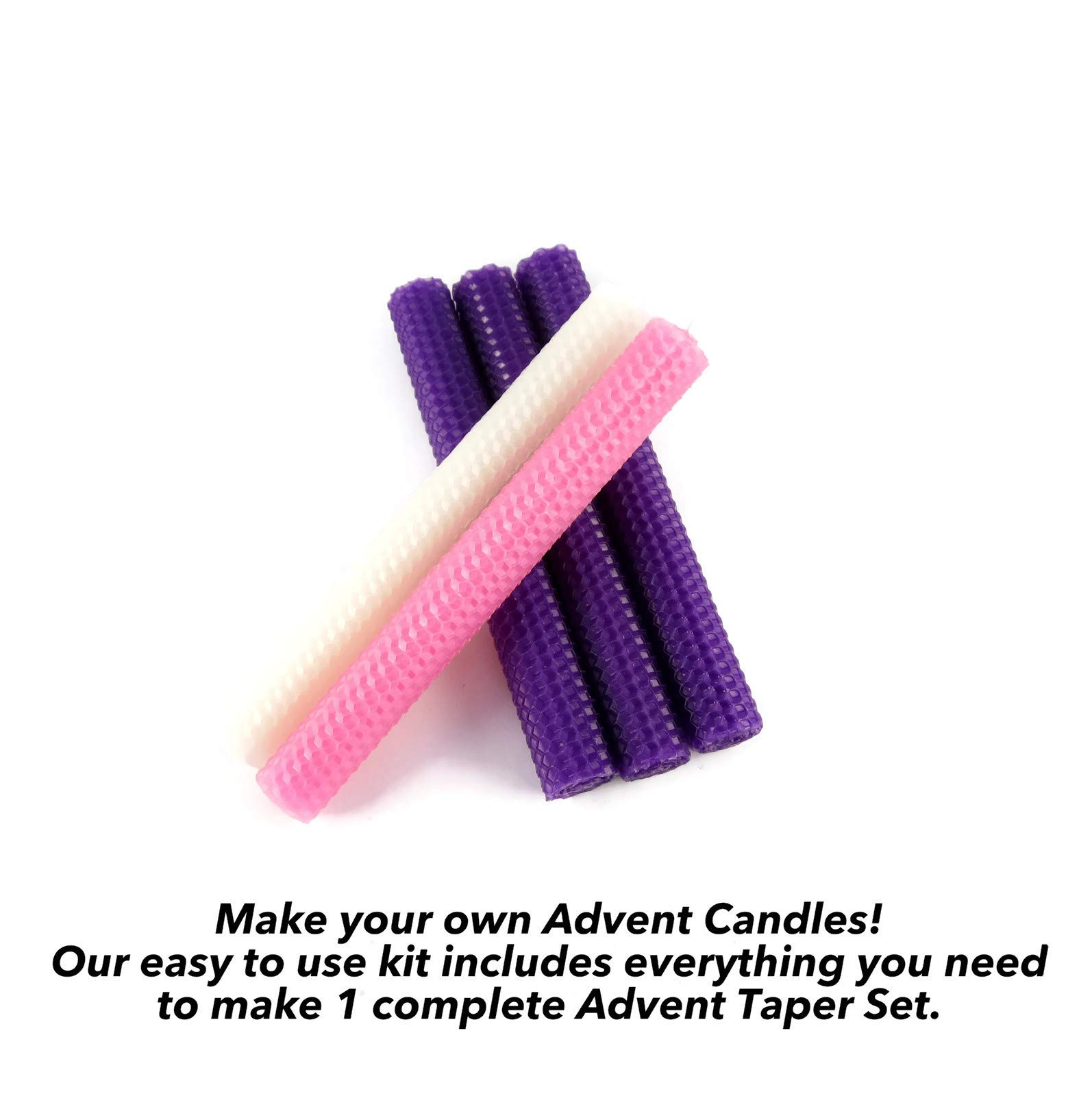 Beeswax Advent Taper Candle Making Kit - Makes One Advent Candle Set