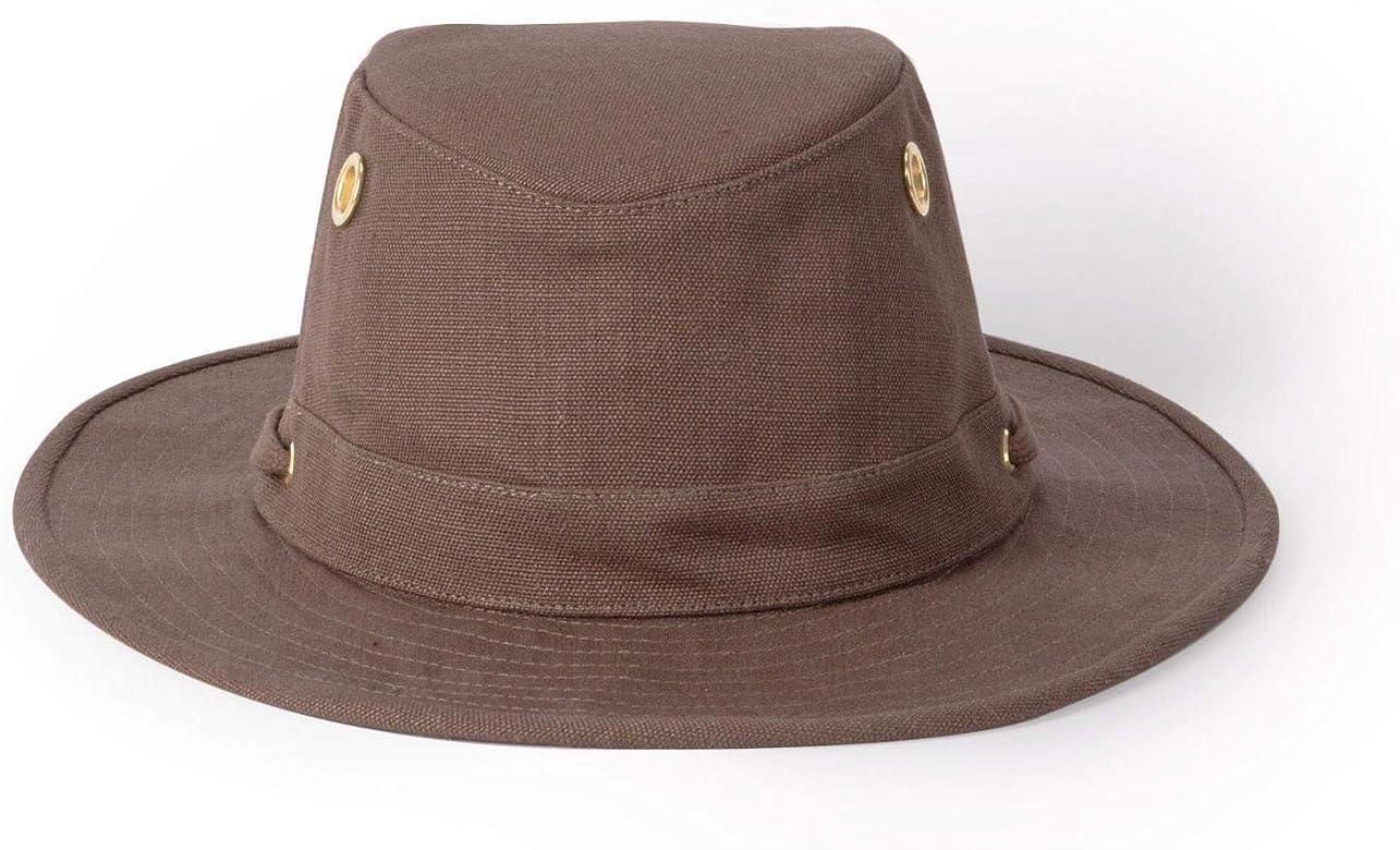 Tilley TH5 Medium Curved Hemp Hat Mocha 7 1//4
