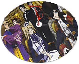 GDSSBD Anime Black Butler Christmas Tree Skirt - Halloween Christmas Tree Decorations Large Thick Luxury Tree Mat Decor Skirt, Holiday Party Supplies Decorations Xmas Ornaments 36