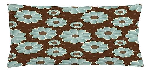Cool pillow Funda de cojín marrón y azul, patrón de ...