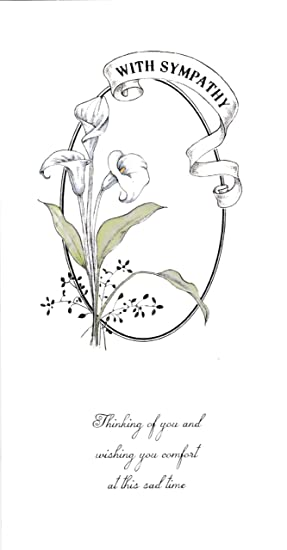 Sympathy Bereavement Card Thinking Of You And Wishing You Comfort