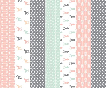 71524c9fbb5 Spoonflower Woodland Fabric - Girl Woodland Cheater Quilt Fabric by  littlearrowdesign - Woodland Fabric Printed on