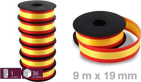 6 Rollos de Cinta Decorativa con la Bandera España para regalos, lazos, pulseras, flores - 5,5 m x 19 mm: Amazon.es: Hogar