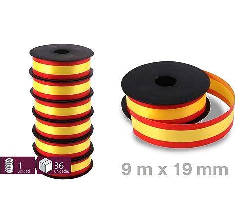 Medi-Inn - Lazo decorativo (2 m), diseño de la bandera de Alemania, color negro, rojo y amarillo, 4.2 cm x 2 m: Amazon.es: Hogar