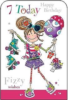 Jonny Javelin Girl Age 7 Birthday Card