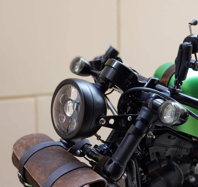 Lisyline 5 3//4 Motorcycle Headlight Housing Bracket 5.75 Inch Headlamp Headlight Mount Bracket for Harley Davidson Sportster Honda Yamaha Suzuki Kawasaki