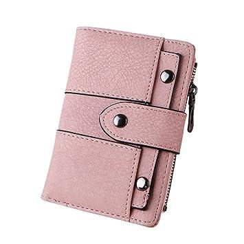 YJYDADA - Soporte de billetera para mujer, remaches retro ...