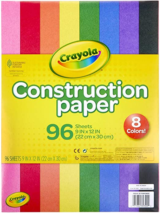 Crayola Construction Paper Pad 9X12 240 Sheets