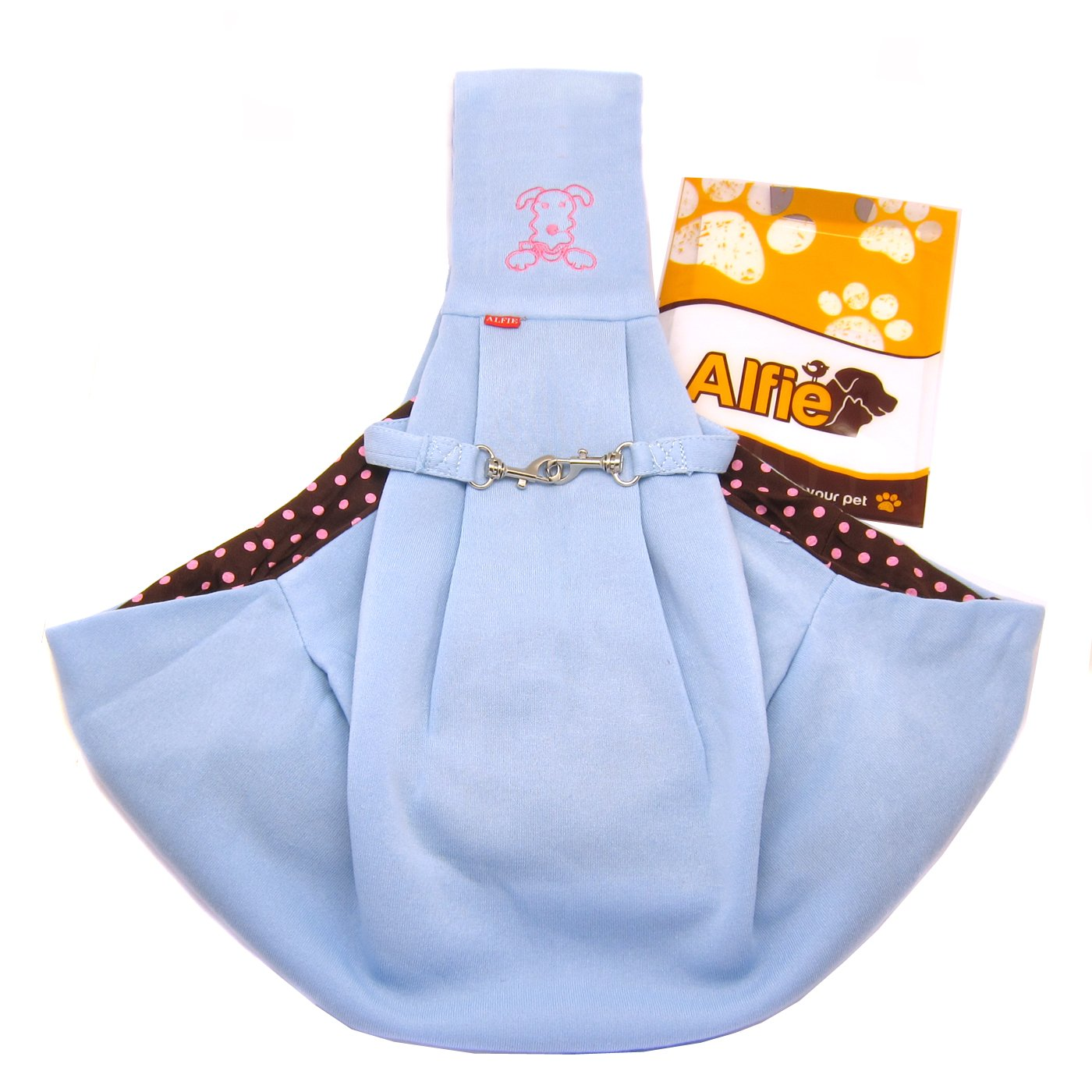 Alfie Pet by Petoga Couture - Chico Reversible Pet Sling Carrier Blue