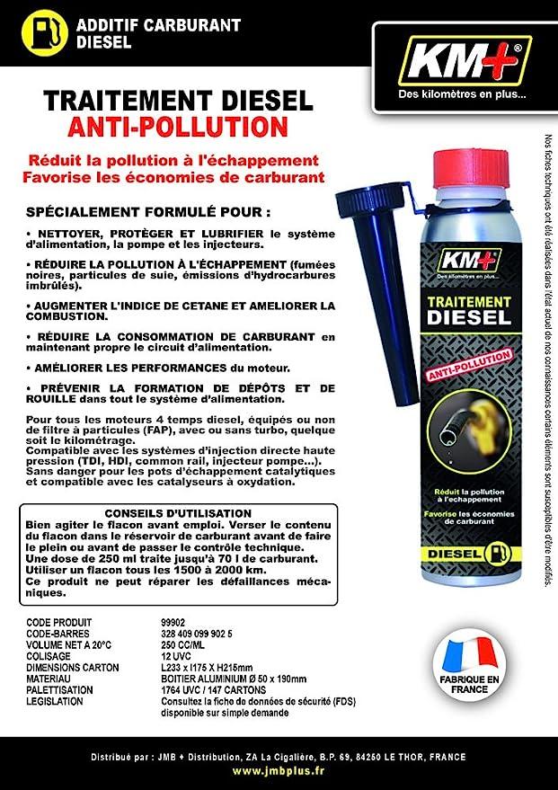 K&M 99902 Traitement Anti-Pollution Diesel 250ml