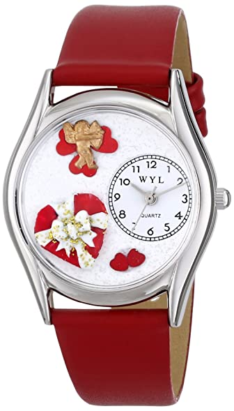 Whimsical Watches Womenu0027s S1226001 Valentineu0027s Day Red Leather Watch