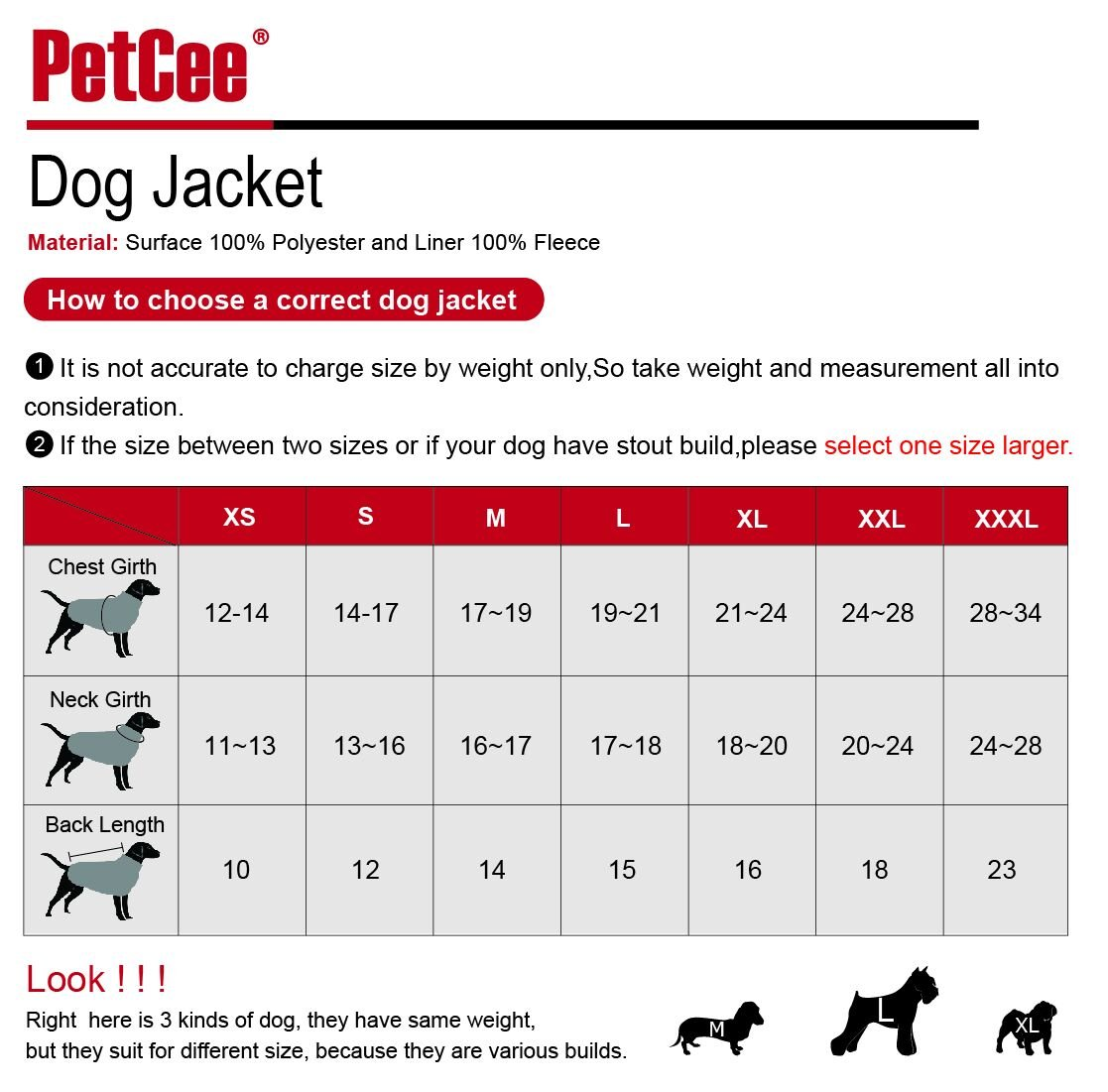 Amazon petcee winter dog jacket 100 polyester waterproof amazon petcee winter dog jacket 100 polyester waterproof fleece lined jacket reflective loft dog coat climate changer fleece jacket black m pet nvjuhfo Gallery