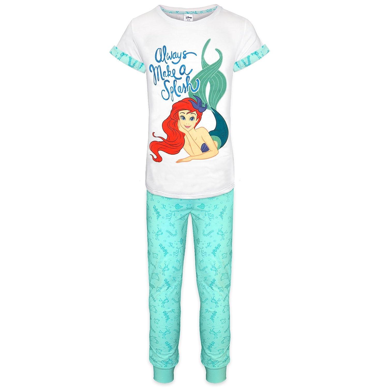 Sirenita Disney Ariel Mujer largo algodón Pijama UK de tamaños 8/10/12/14 16 18 20/22 gris 46-48: Amazon.es: Ropa y accesorios