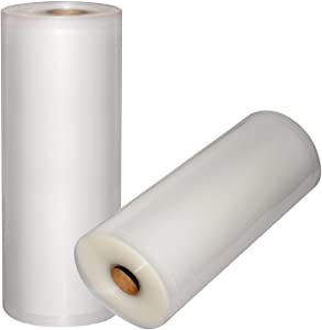 "Vacuum Sealer Bags - 2 Pack 11"" x 50' Commercial Grade Sealer Saver Rolls for Foodsaver and Sous Vide (Total 100 feet)"