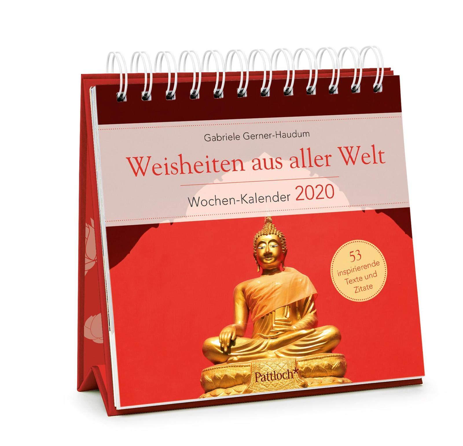 U Of M Calendar 2020 Weisheiten aus aller Welt   Wochen Kalender 2020: zum Aufstellen m