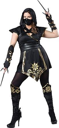 Womens Plus Size Ninja Warrior Costume