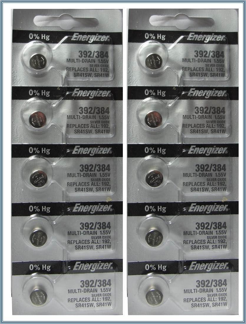 10 Energizer 392//384 Multi-Drain Batteries Replaces LR41