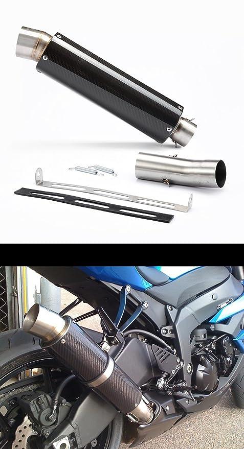 2009 - 2016 Kawasaki ZX6R Ninja carbono GP Tubo de escape ...