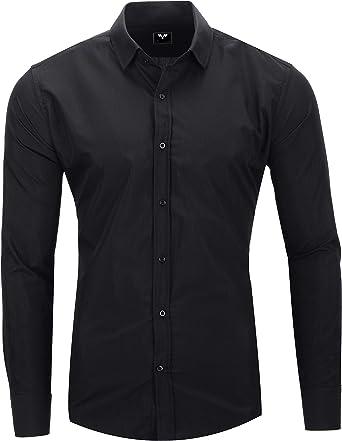 Kayhan Hombre Camisa Manga Larga Slim Fit S-6XL - Modello Uni: Amazon.es: Ropa y accesorios