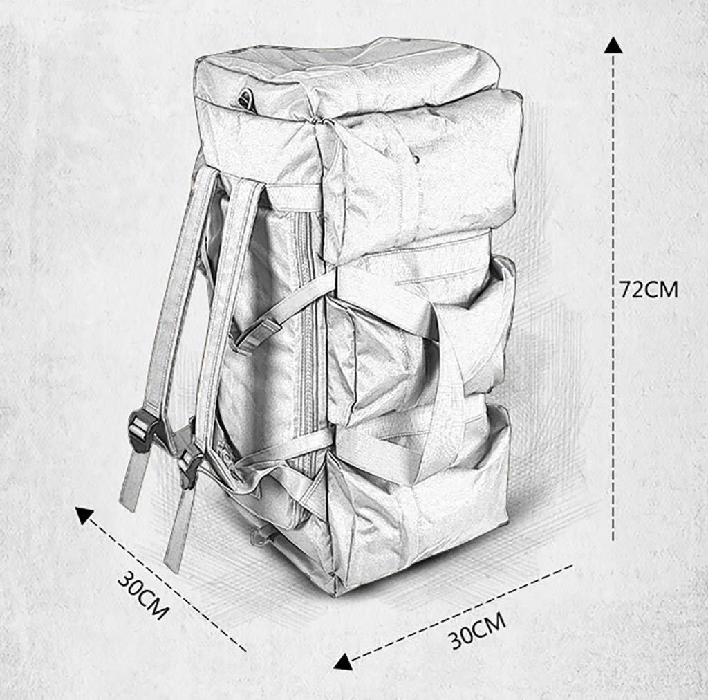 MXRa Wanderrucksäcke 70L Reiserucksack Large Wandern Camping Gepäcktasche für Outdoor-Reisen Outdoor-Reisen Outdoor-Reisen Klettern Camping Bergsteigen (In fünf Farben erhältlich) (Farbe   B) B07MK719GD Wanderruckscke In hohem Grade geschätzt und weit Grünraut f8c177