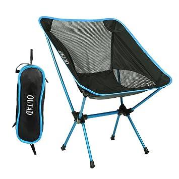 outad silla de camping silla de pesca plegable silla plegable sillas ...