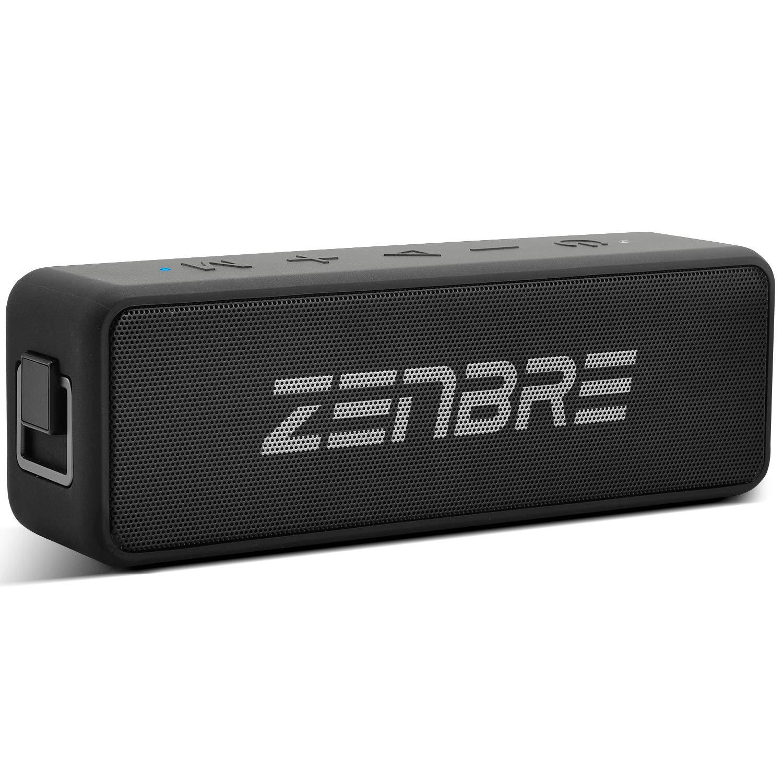ZENBRE Boost Bluetooth スピーカー【IPX7 防水/20W高出力/20H再生時間/Bluetooth 5.0 /TWS高音質/3H急速充電・Type-c対応、マイク搭載、TFカード/AUX線】 (ブラック)