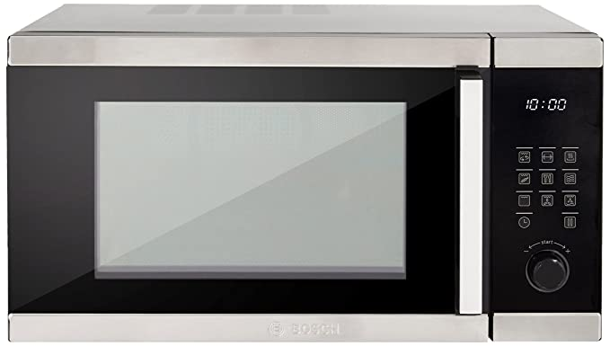 Bosch 32 L Convection Microwave Oven (HMB55C453X, Stainless Steel and Black) with Borosil Starter Kit