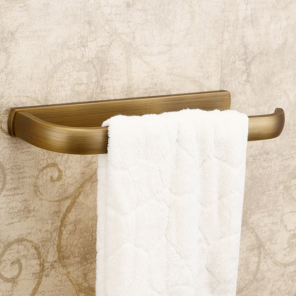 Weare Home Retro Bathroom Accessories Solid Brass Antique Brass Finished Towel Ring Towel Holder Towel Bars Towel Rack Wall maounted