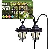 Benross Marketing Ltd 18240 Lot de 2 lanternes solaires de jardin suspendues avec pieds métalliques